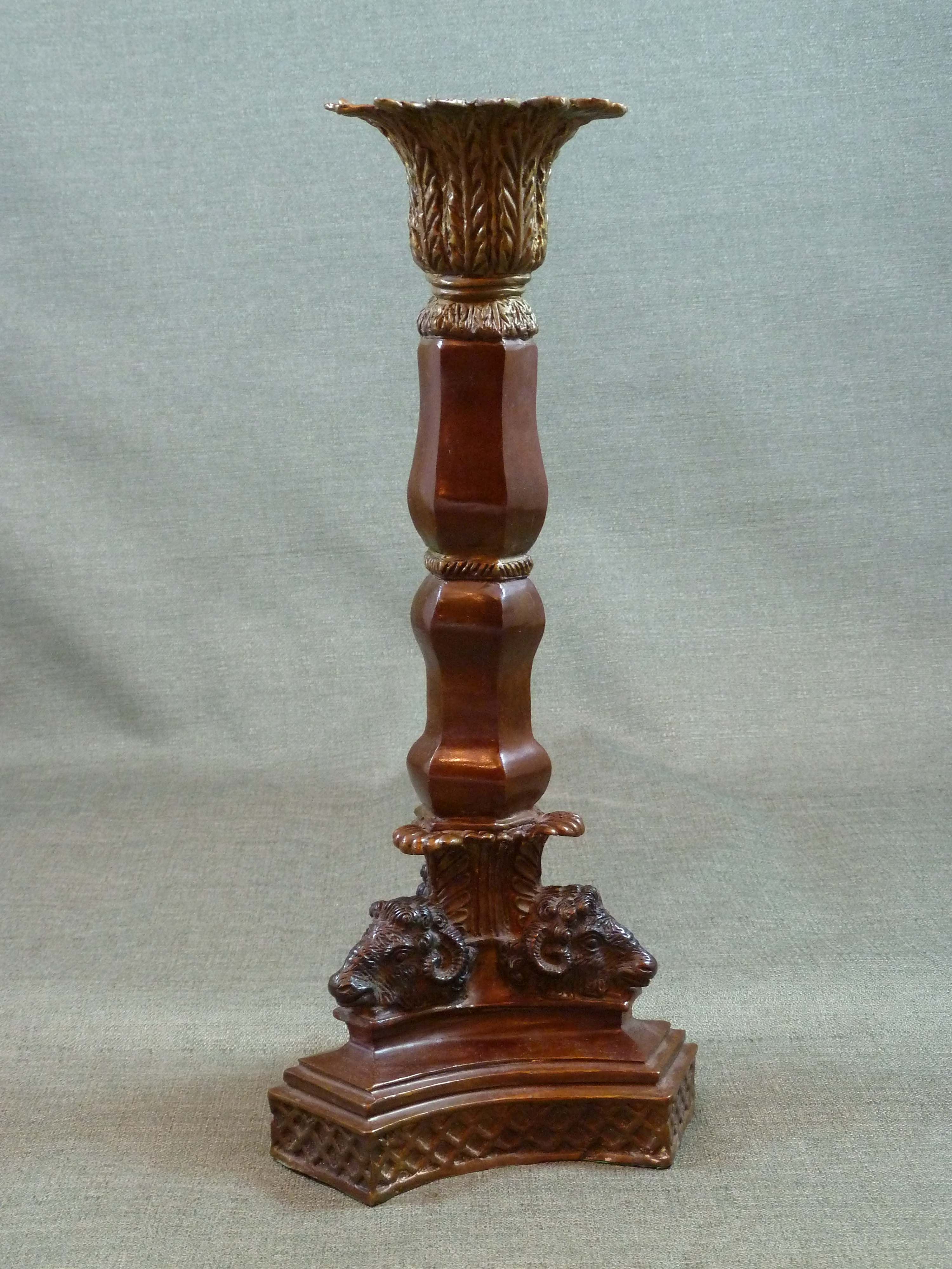 FC1002 Candlestick with Ram Heads